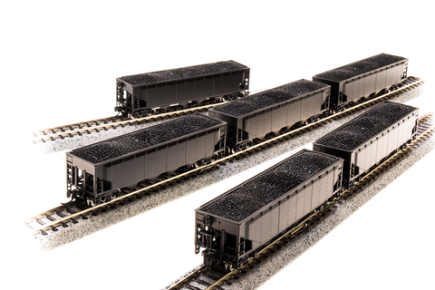 BROADWAY LIMITED IMPORTS N ARA 70t 4bay HOPPER UNDECORATED 6 PACK