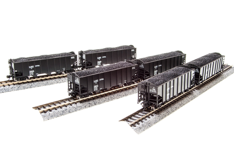 BROADWAY LIMITED IMPORTS N 3bay HOPPER IC 6 PACK