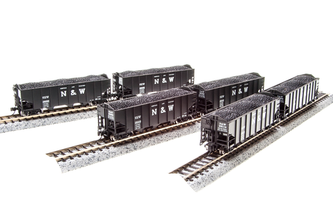 BROADWAY LIMITED IMPORTS N H2a HOPPER N&W 6 PACK C 24'
