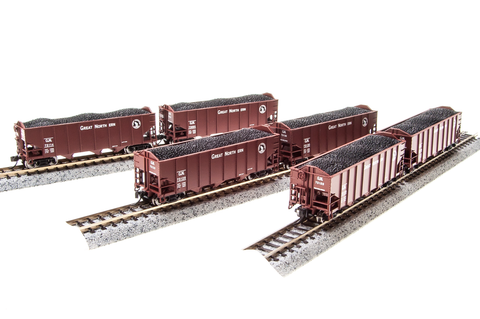 BROADWAY LIMITED IMPORTS N 3bay HOPPER GN 6 PACK