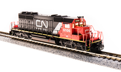 Broadway Limited N EMD SD40-2 - Sound and DCC - Paragon3 - Canadian National IC 6106 (Black, Red, White, Website Noodle Logo)