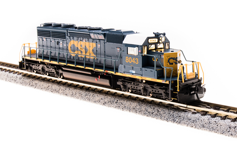 Broadway Limited N EMD SD40-2 - Sound and DCC - Paragon3 - CSX 8043 (YN3 Blue, Yellow, White)