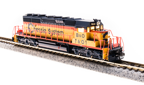 Broadway Limited N EMD SD40-2 - Sound and DCC - Paragon3 - Chessie System B&O 7601 (Yellow, Blue, Vermillion)