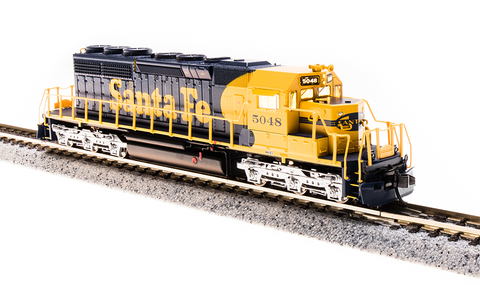 Broadway Limited N EMD SD40-2 - Sound and DCC - Paragon3 - Santa Fe 5048 (Warbonnet, Blue, Yellow)