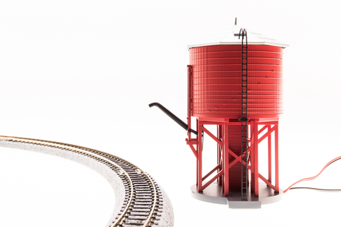 BROADWAY LIMITED IMPORTS N OPERATING WATER TOWER W/SOUND - PAINTED, UNLETTERED (BARN RED)