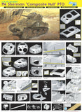 Dragon Military Models 1/35 M4 Sherman Composite Hull PTO Tank (Re-Issue) Kit