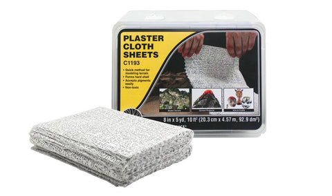 "Woodland Scenics 8""x12"" Plaster Cloth Sheets (30/pk)"