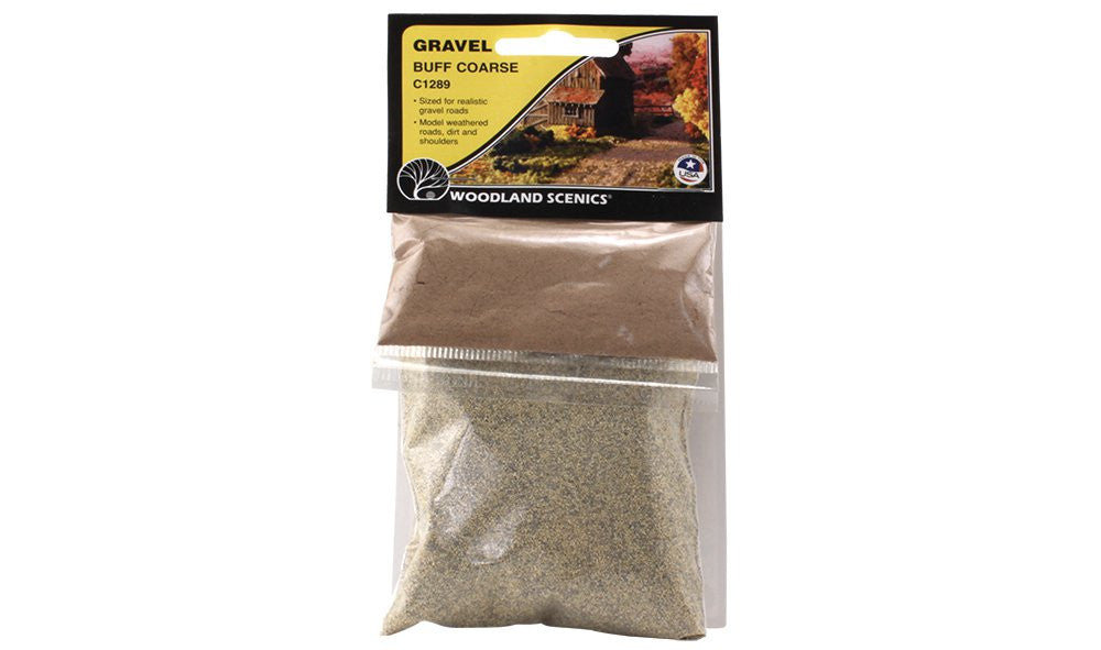 Woodland Scenics Buff Coarse Gravel (7oz. Bag)