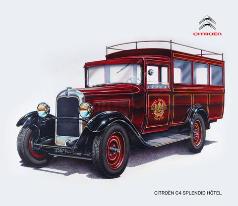 Heller Model Cars 1/24 Citroen C4 Royal Splendid Hotel Mini Bus Kit