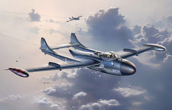 Cyber-Hobby Aircraft 1/72 Sea Venom FAW21 Royal Navy Fighter Kit