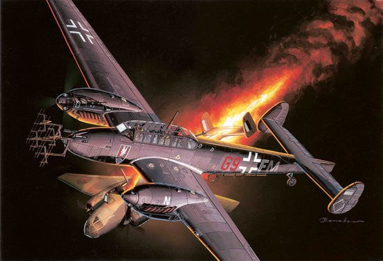 Cyber-Hobby Aircraft 1/48 Bf110D Nachtjager Fighter Kit