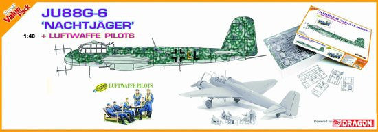 Cyber-Hobby Aircraft 1/48 Ju88G6 Nachtjager Fighter w/6 Pilots Kit