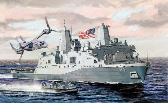 Cyber-Hobby Ships 1/700 USS New York LPD21 San Antonio Class Warship Kit