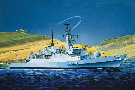 Cyber-Hobby Ships 1/700 HMS Antelope Type 21 Frigate 30th Anniv Falklands War Kit