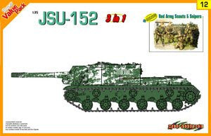 Cyber-Hobby Military 1/35 JSU152 Tank w/Red Army Scouts & Snipers (3 in 1) Kit