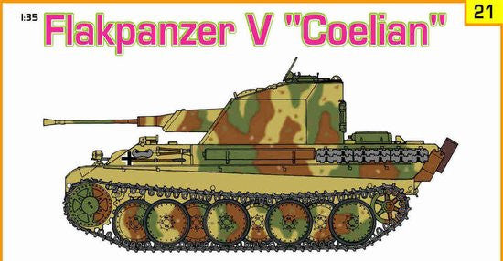 Cyber-Hobby Military 1/35 Flakpanzer V Coelian Tank w/Panzer Riders Kit