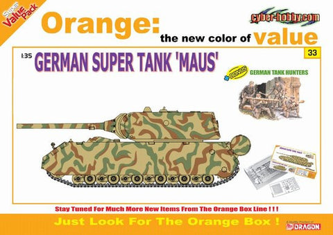 Cyber-Hobby Military 1/35 German Super Maus Tank w/Hunter Team Kit