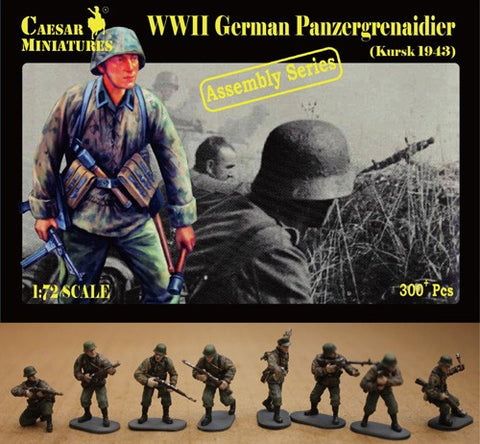Caesar Miniatures 1/72  WWII German Panzergrenadier Kursk 1943 (16 multi-posed figs) (Kit)