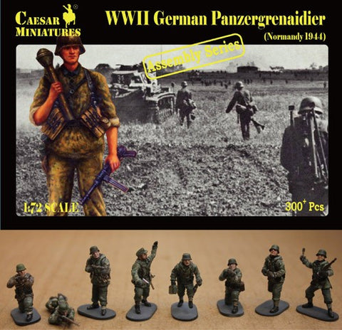 Caesar Miniatures 1/72  WWII German Panzergrenadier Normandy 1944 (16 multi-posed figs) (Kit)