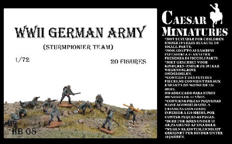 Caesar Miniatures 1/72  WWII German Army Sturmpionier Team (20 Figures)