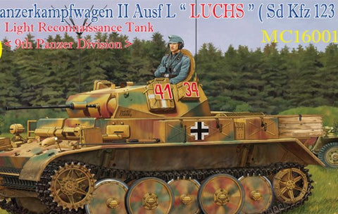 Classy Hobby 1/16 PzKpfw II Ausf L Luchs (SdKfz 123) 9th Pz Division Light Recon Tank (Re-Issue) Kit