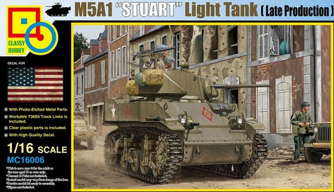 Classy Hobby 1/16 M5A1 Stuart Late Production Light Tank Kit