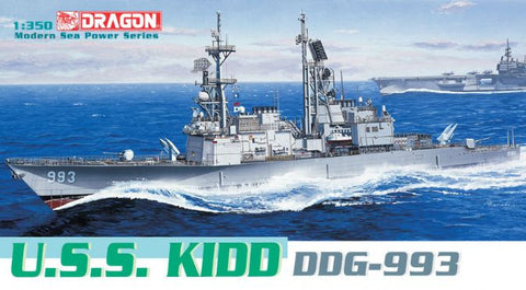 Dragon Model Ships 1/350 USS Kidd DDG993 Destroyer Kit