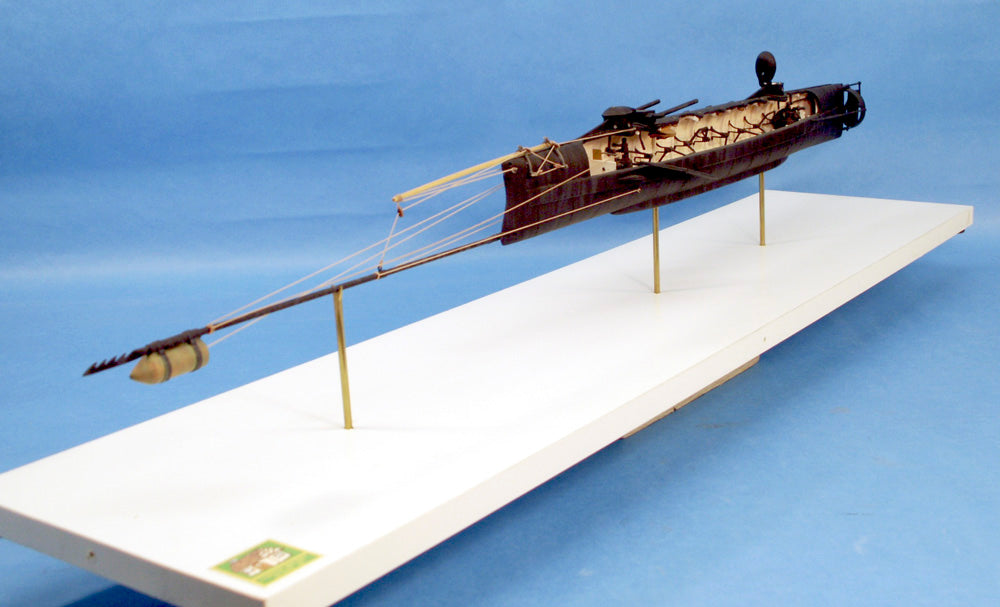 Cottage Industry Ships 1/24 H.L. Hunley Confederate Submarine Kit