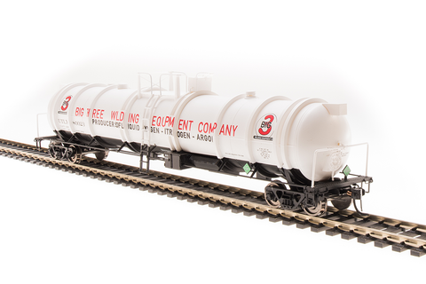 Broadway Limited N High-Capacity Cryogenic Tank Car 2-Pack - RTR - Big Three Industries (White, Red, Black)