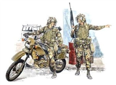 Dragon Military Models 1/35 US Light Infantry (2) w/Motorcycle Kit