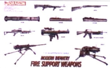 Dragon Military Models 1/35 Modern Infantry Fire Support Weapons Set (24) Kit
