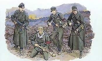 Dragon Military Models 1/35 German Volksturm Soldiers Berlin 1945 (4) Kit