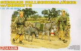 Dragon Military Models 1/35 German Fallschirmjager w/Donkeys (2ea) (Re-issue) Kit