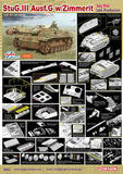 Dragon Military Models 1/35 StuG III Ausf G Late Tank w/Zimmerit July 1944 Smart Kit