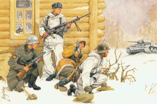 Dragon Military Models 1/35 German Blue Div Spanish Volunteers Eastern Front 1942-43 (4) Kit