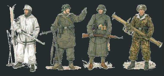 Dragon Military Models 1/35 German Winter Combatants 1943-45 (4) Kit