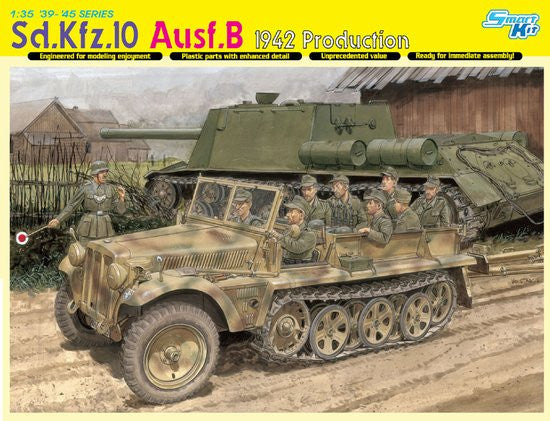 Dragon Military Models 1/35 SdKfz 10 Ausf B 1942 Production Halftrack Kit