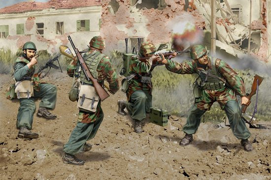 Dragon Military Models 1/35 Italian Paratroopers Anzio 1944 (4) Kit
