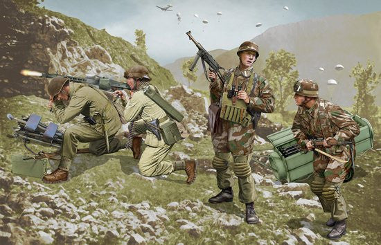 Dragon Military Models 1/35 German Brandenburg Troops Leros 1943 (4) Kit