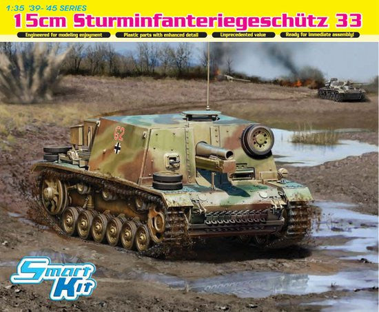 Dragon Military Models 1/35 15cm Sturm-Infanteriegeschutz 33 Tank Kit