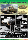 Dragon Military Models 1/35 PzBeobWg V Panther Tank w/5cm KwK 39/1 Gun kIt