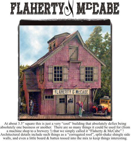 Bar Mills HO Flaherty & McCabe's Laser-Cut Wood Kit
