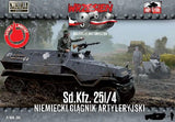 First To Fight 1/72 WWII SdKfz 251/4 German Artillery Halftrack Kit