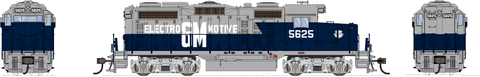 Broadway Limited HO EMD GP20 w/Sound & DCC - Paragon3 - Electro-Motive Division #5625 (Demonstrator, Blue, Silver)