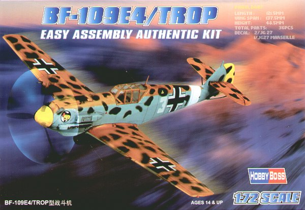 Hobby Boss Aircraft 1/72 Bf-109E-4 Tropical Kit