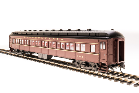 Broadway Limited HO PRR P70R Coach with Ice Air Conditioning - RTR - Pennsylvania Railroad 853 (Tuscan, Black, Gold)