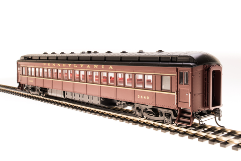 Broadway Limited HO PRR P70R Coach with Ice Air Conditioning - RTR - Pennsylvania Railroad 3464 (Tuscan, Black, Buff)