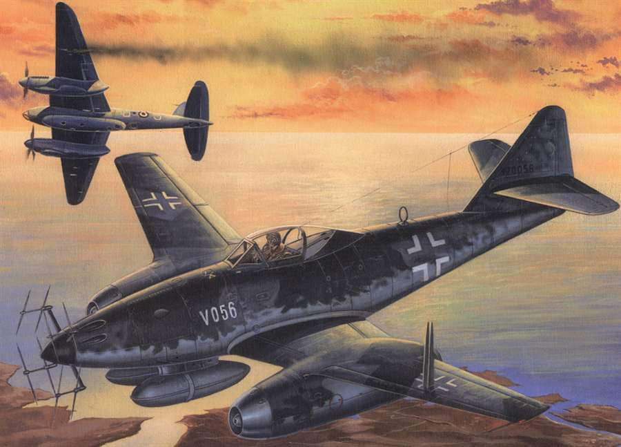 Hobby Boss Aircraft 1/48 Me-262 V056 Kit