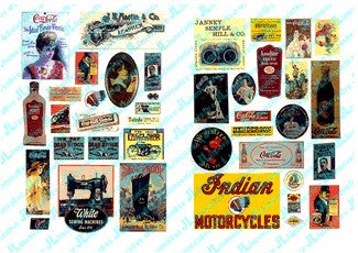 JL Innovative Design HO 1890-20's Turn of the Century Posters/Signs (40)