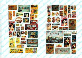 JL Innovative Design HO 1900-20's Saloon & Tavern Signs #1 Weathered Signs (66)